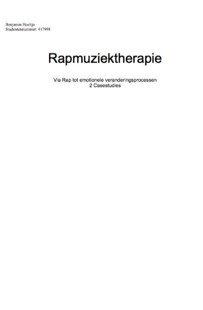 Bachelor-Thesis-Rapmuziektherapie